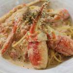 [かに料理レシピ]ズワイガニたっぷりのトマトクリームスパゲッティ