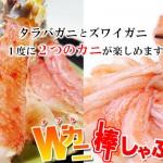 2015/12/16【最北の海鮮市場】タラバ&ズワイしゃぶの食べ比べができる!Wカニ棒しゃぶセットを5%OFFで!